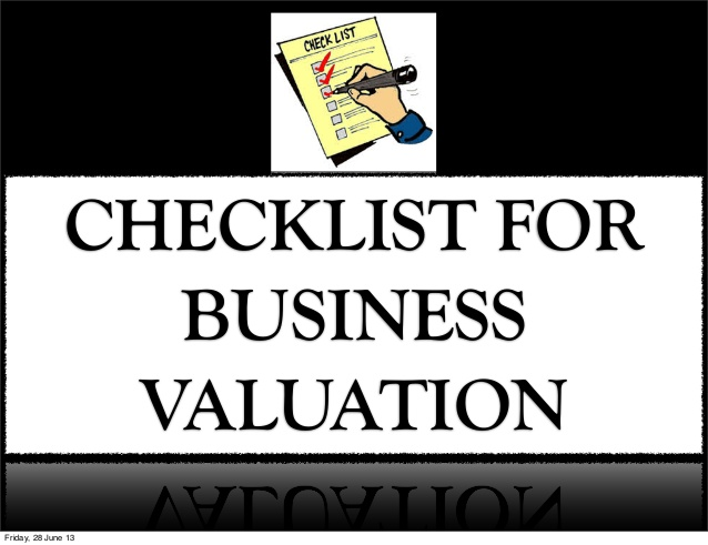 A Quick Checklist for Estimating the Value of Your Company